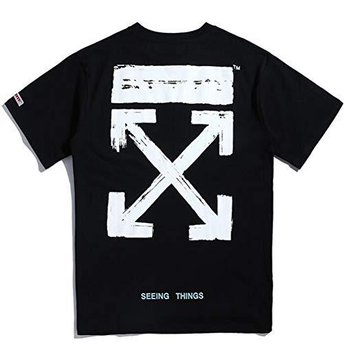 mich Off OW White Classic Arroff OW White Print Hip Hop Short Sleeve T-Shirt For Men Women