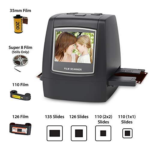 DIGITNOW! 22MP Escáner de negativos y diapositivas , Convertidor digital con 2,4'LCD para 35 mm/ Super 8/ 110/ 126 película