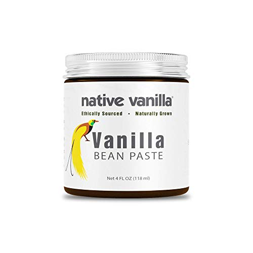 Native Vanilla - Pasta de Vainilla Pura y Natural 118 ml (4 oz) - Para los cocineros y para la cocina casera, la repostería y la elaboración de postres