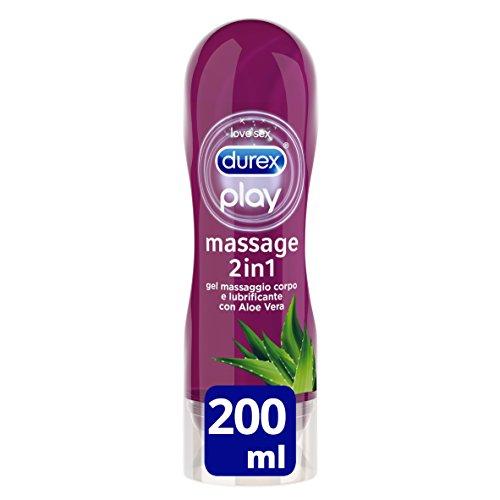 Durex Massage 2 In 1 Aloe Vera 200 Ml 1 Unidad 200 g