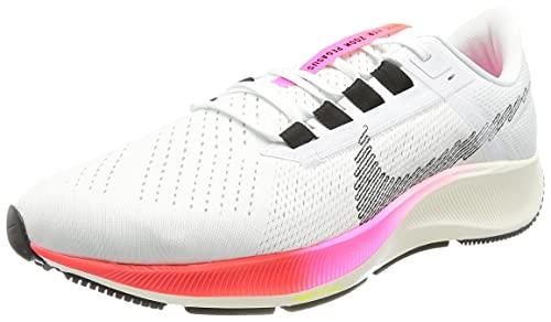 Nike Air Zoom Pegasus 38, Zapatillas para Correr Hombre, White Bright Crimson Volt, 40 EU
