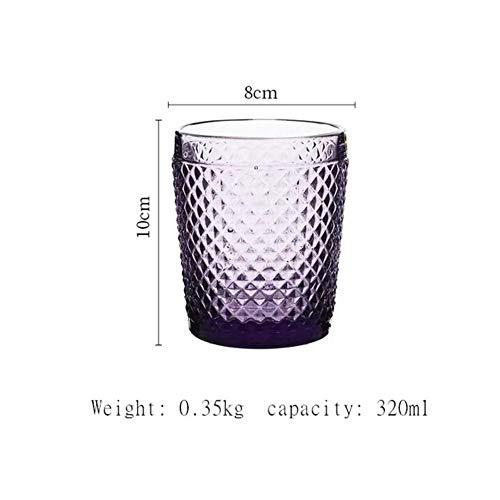 QAP - Vasos de cerveza para vodka (300 ml), Morado, 301-400ml