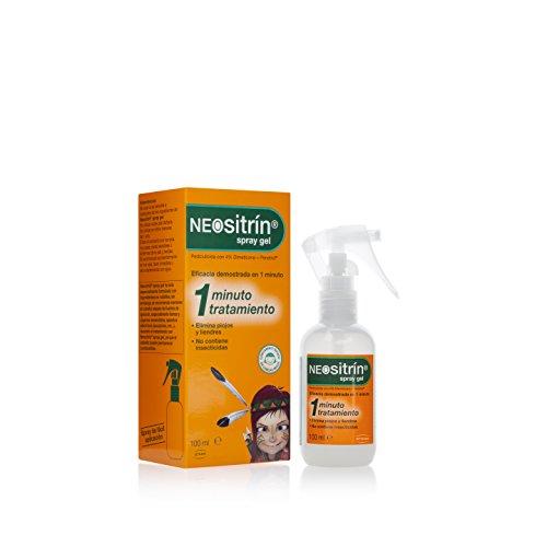 Neositrín TB1031 Spray Gel Tratamiento para Eliminar Piojos y Liendres, 100 ml