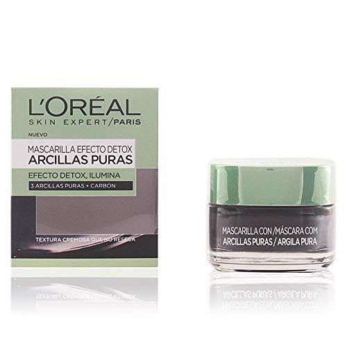 L'Oreal Paris Dermo Expertise Arcillas Puras Mascarilla Purificante, Tono: Negra - Total: 50 ml