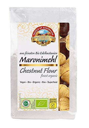 Harina de castaña orgánica 1,8 kg ecológica, Fairtrade, sin gluten 1,8 kg Bio biológica, sin OMG 6x300g