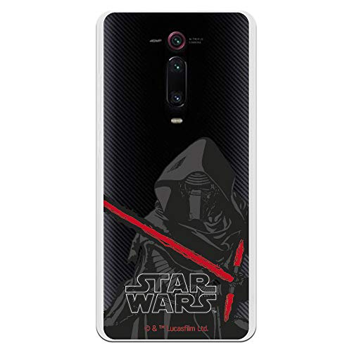 Funda para Xiaomi Mi 9T (Redmi K20) Oficial de Star Wars Kylo REN Espada para Proteger tu móvil. Carcasa para Xiaomi de Silicona Flexible con Licencia Oficial de Star Wars.