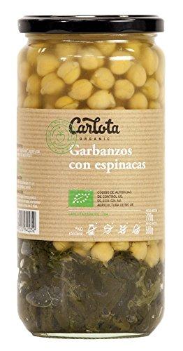 GARBANZOS CON ESPINACAS Ecológico Carlota organic 720gr