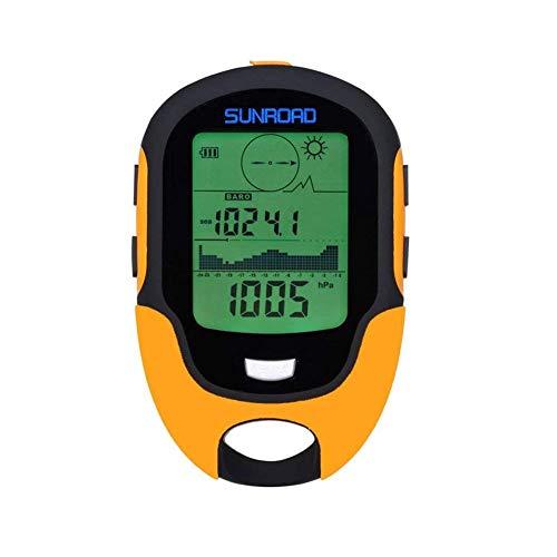 Barómetro, altímetro y brújula multifunción FR500que incorpora funciones de altímetro, barómetro, termómetro, brújula, linterna LED y previsión del tiempo