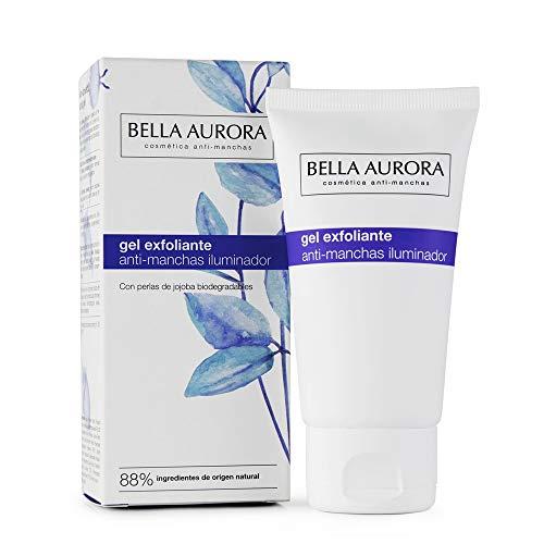 Bella Aurora Gel Exfoliante Facial Anti-Manchas Limpia la Piel en Profundidad Peeling Enzimático para la Cara, 75 ml