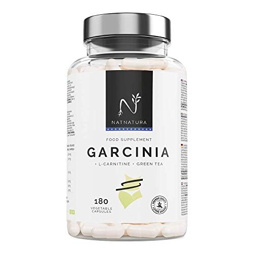 Garcinia Cambogia+L-Carnitina+Té verde, quemagrasas natural efectivo. La mejor fórmula Quemagrasas para adelgazar. Fórmula de máxima calidad con alta concentración de HCA 60%. 180 cápsulas.