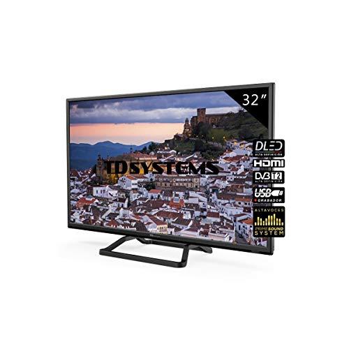 Television 32 Pulgadas, 2X HDMI, VGA, USB, 800 PCI Hz, Grabador Reproductor, DVB-T2/C/S2 Modo Hotel - Televisores TD Systems K32DLM10H - TDsystems