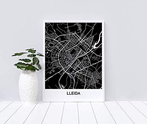 Mapa decorativo de Lleida