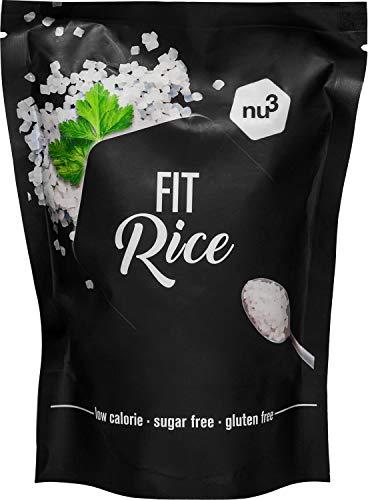 nu3 Arroz Fit - 350 g de arroz konjac bajo en calorías - 14 kcal en cada porción - Natural rice con glucomanano - Granos de arroz sin gluten y sin azúcar - Guarnición perfecta