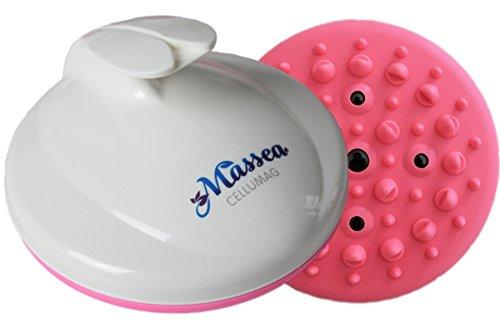 CelluMag - Cepillo para masaje anticelulítico con imanes contra la piel de naranjaPara una piel tersa, masajes, bienestar y belleza (Pink)