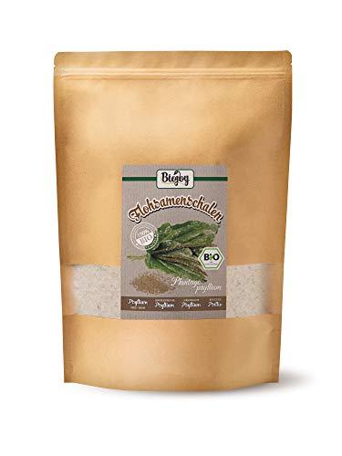 Biojoy Polvo de cáscara de psyllium orgánico - Plantago ovata (1 kg)