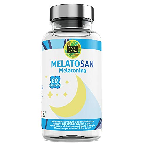 Melatosan-Aquisana   Melatonina + Valeriana + Pasiflora + Melisa - - Relajante natural - Extractos de plantas para descansar - Libre de Alérgenos-(60 CAP)