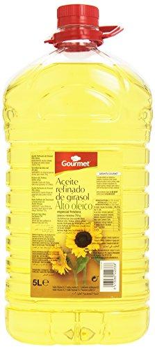 Gourmet - Aceite refinado de girasol - Alto oleico - 5 l