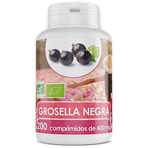 Grosella Negra Orgánica - 400 mg - 200 comprimidos