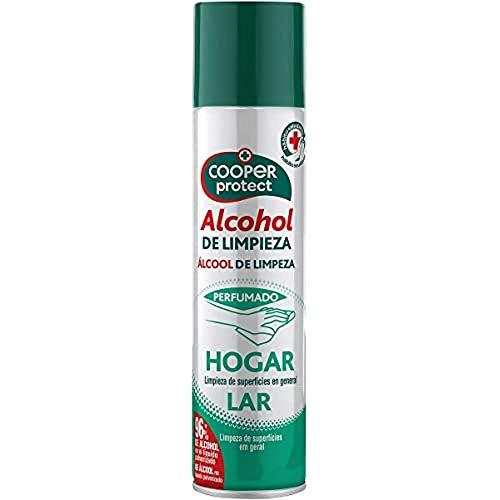 Cooper Protect Aerosol Perfumado  96% de Alcohol  Limpieza de Superficies  Contenido: 300 ml, Estandar, 300
