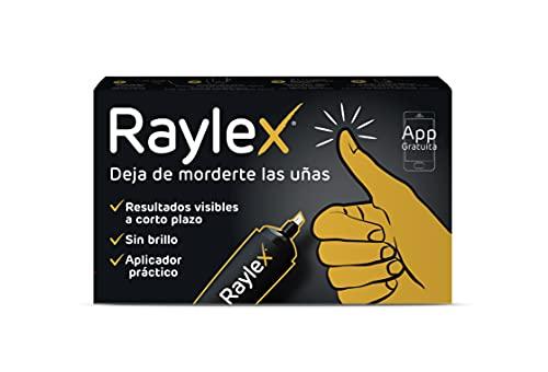 RAYLEX - Tratamiento para dejar de morderse y crecimiento de las uñas, Aplicador/dosificador, Formato rotulador, Con biotina (Vitamina H), Incoloro, 1.5 ml
