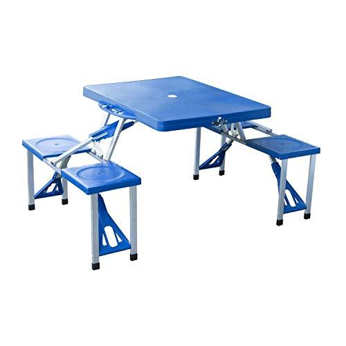mesa plegable con sillas incorporadas carrefour
