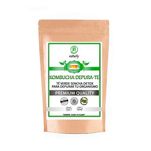 Detox Té Desintoxicante   Potentes antioxidantes   Té Kombucha   Té Verde Puro   Eliminar Toxinas de tu Cuerpo y Reducir Hinchazón Abdominal   Ayuda Natural para Eliminar Grasas