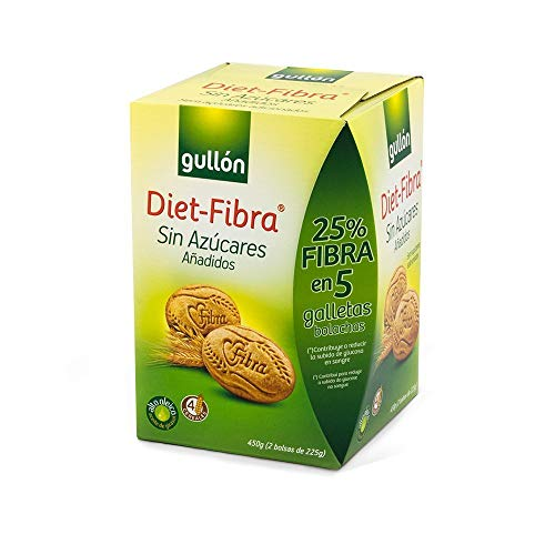 Gullón Galleta Fibra sin Azúcar DietFibra 2 Bolsas, 450g