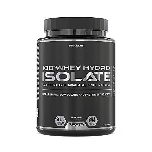 Prozis 100% Whey Hydro Isolate SS para la Quema De Grasas, la Recuperación Muscular y la Musculación, Fácil de Digerir y Bajo en Carbohidratos, Vainilla - 2000 g