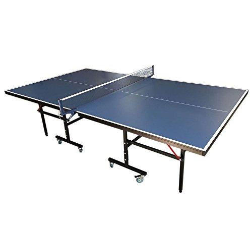 GRAFICA MA.RO SRL Juego DE Mesa Ping Pong Profesional Plegable Medidas reglamentarias: 274 x 152 cm Azul Nuevo Robusta Y Resistente