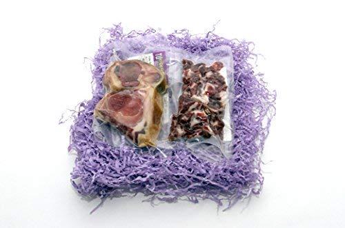2 sobres de Taquitos de Jamón Ibérico cortados a cuchillo y Huesos de Jamón Ibérico de regalo. Somos ganaderos; en algo tiene que notarse.