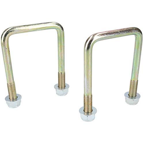 2 pernos cuadrados U de acero inoxidable 304 con marco de ranuras M6 25 mm de ancho interior YGSAT