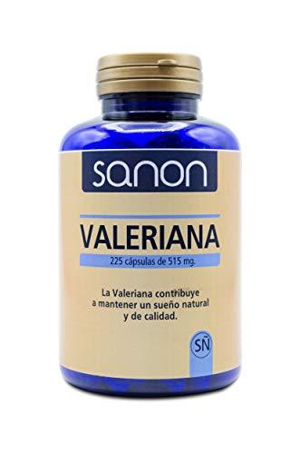 YNSADIET S.A. Sanon Valeriana 225 Cápsulas De 515 Mg, One size, Vanilla, 115.9 Gramo
