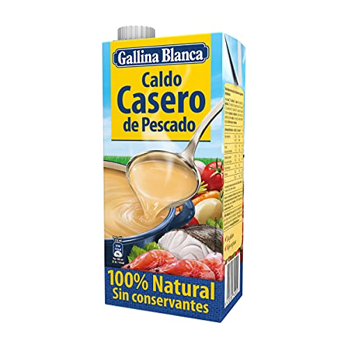 Gallina Blanca Caldo Casero de Pescado, 100% Natural, 1L