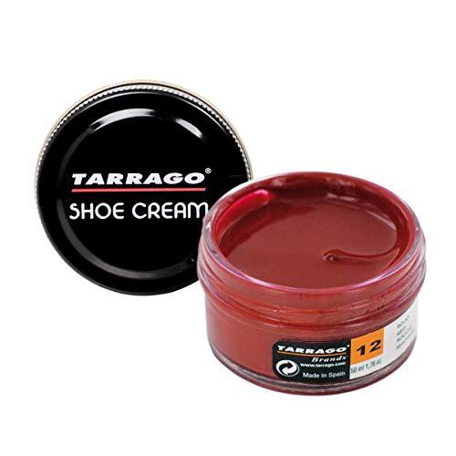 Tarrago Shoe Cream Jar 50 ml - Crema tinta para zapatos y bolsos, unisex, adulto, Rojo (Red 12), 50 ml