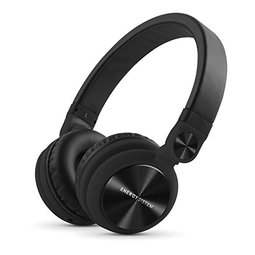 Energy Sistem Headphones DJ2 Black Mic (Flip-Up Ear Cups, Removable Cable, Control Talk, Foldable)