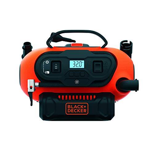 Black+Decker BDCINF18N-QS - Compresor de aire 160 PSI, corriente CA/CC 230V/12V y corriente CC para baterías 18 V