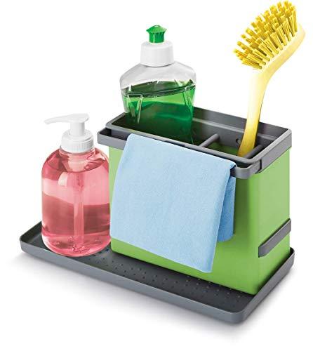 Metaltex Tidy-Tex - Organizador Modular de Limpieza de Cocina, Verde