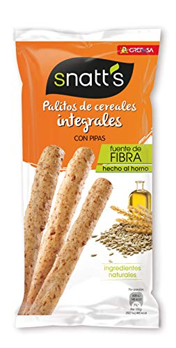 Grefusa - Snatt's   Palitos de Trigo Integrales con Pipas - 55 gr