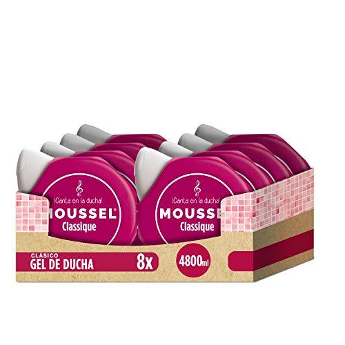 Moussel Gel Líquido Classique con Aceites Esenciales Naturales - Paquete de 8 x 600 ml - Total: 4800 ml