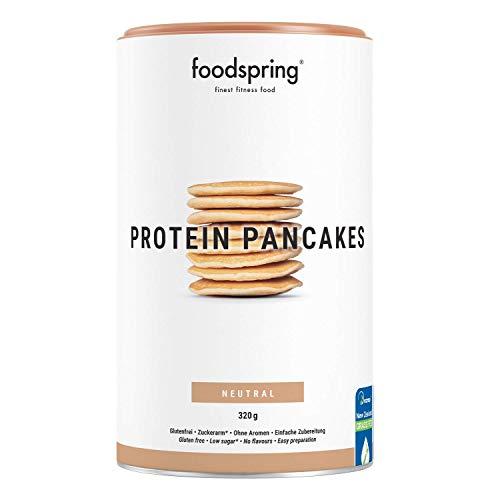 foodspring Tortitas Proteicas, 320g, Mezcla para cocinar, Baja en azúcar, Muy alta en proteínas, Tortitas esponjosas en 5 minutos, sabor y textura mejorados.