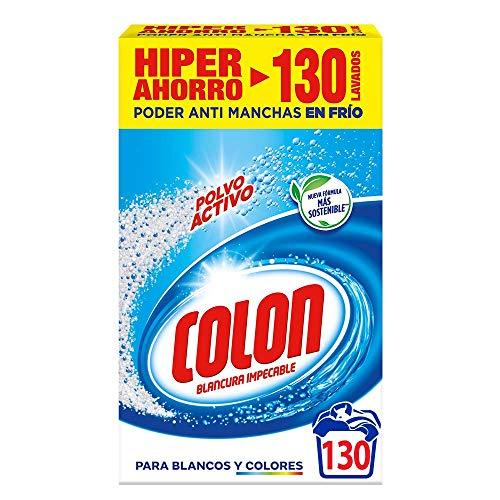 Colon Polvo Activo - Detergente para lavadora, adecuado para ropa blanca y de color, formato polvo - 130 dosis