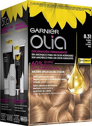 Garnier Olia - Coloración Permanente sin Amoniaco, con Aceites Florales de Origen Natural - Tono 8.31 Rubio Miel