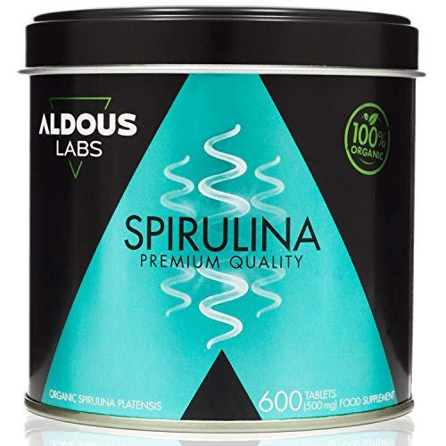 Espirulina Ecológica Premium para 9 Meses   600 comprimidos de 500mg con 99% BIO Spirulina   Vegano - Saciante - DETOX - Proteína Vegetal   Certificación Ecológica