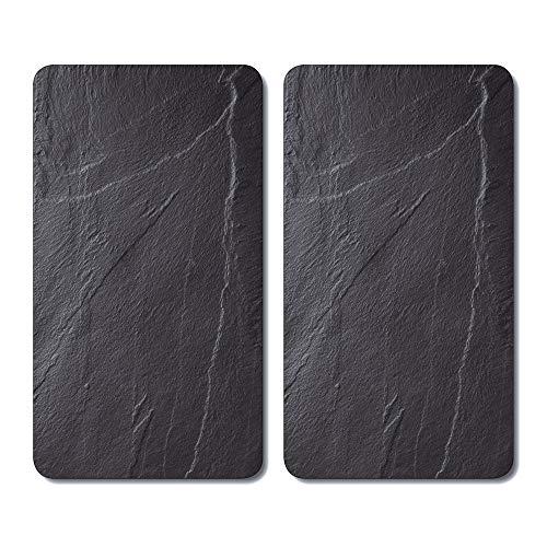 Kesper 3652313 - Tablas para cortar, cristal, Negro, 52 x 30 x 0.8 cm, 2 unidades