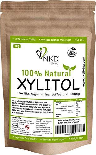 XILITOL 1 Kg, alternativa natural al azúcar   Con certificado de producto no transgénico