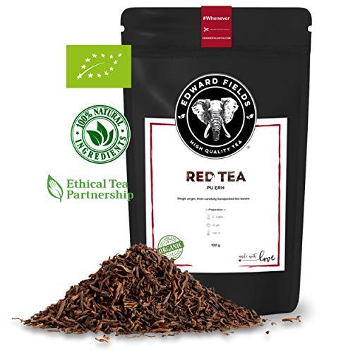 Edward Fields - Té Rojo Pu Erh Orgánico de alta calidad. Cantidad: 100g. Formato: Granel. Origen: China. Detox, antioxidante, adelgazante.