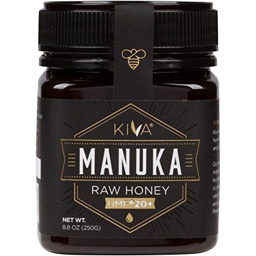 Kiva Miel de Manuka pura (Nueva Zelanda) UMF 20+ certificado, 250 gramos.