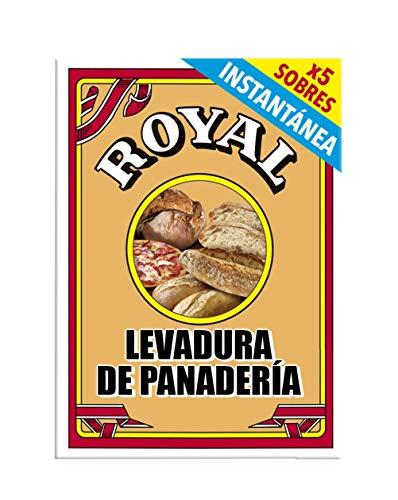 Royal Levadura de Panadería Instantánea en Formato Polvo - 5 Sobres, 27,5 g