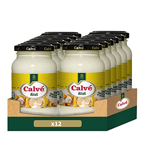 Calvé Salsa Allioli - Pack de 12 x 225ml (Total 2700ml)