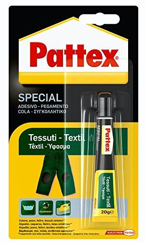 Pattex Pegamento para textil, transparente, resiste a lavados y planchados, 20gr